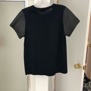 Vince Tops - Vince leather and cashmere top